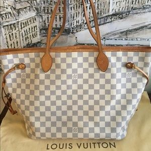 Louis Vuitton Neverfull MM Damier Azur In GUC